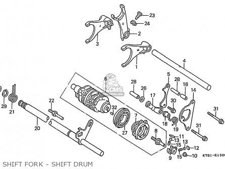 Honda Cbr400rr 1989 k Japanese Domestic   Nc23-109 Shift Fork - Shift Drum