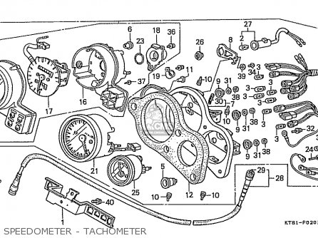 Honda Cbr400rr 1989 k Japanese Domestic   Nc23-109 Speedometer - Tachometer