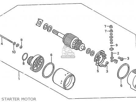 Honda Cbr400rr 1989 k Japanese Domestic   Nc23-109 Starter Motor