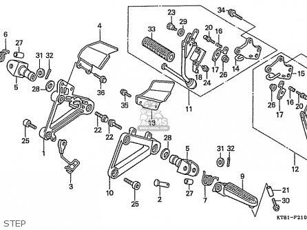 Honda Cbr400rr 1989 k Japanese Domestic   Nc23-109 Step