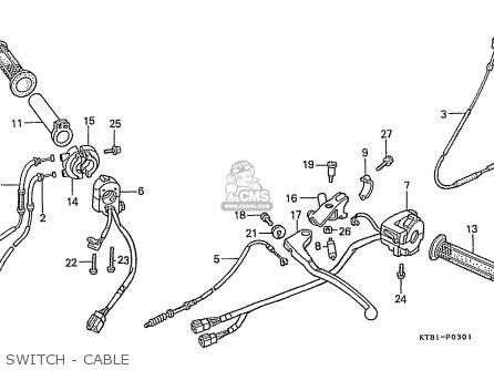 Honda Cbr400rr 1989 k Japanese Domestic   Nc23-109 Switch - Cable
