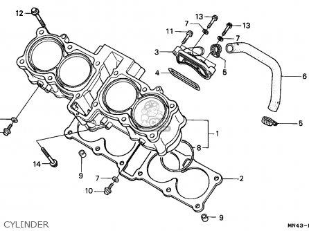 Honda Cbr600f Hurricane1987 H Spain Kph Parts Lists And Schematics