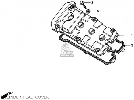 Honda Cbr900rr 1995 s Usa California Cylinder Head Cover