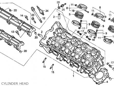 Honda Cbr900rr 1995 s Usa California Cylinder Head