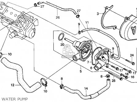 Honda Cbr900rr 1995 s Usa California Water Pump