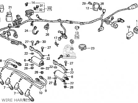 Honda Cbr900rr 1995 s Usa California Wire Harness