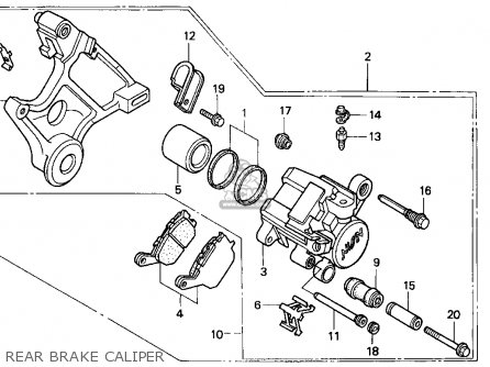 Honda Cbr900rr 1995 s Usa Rear Brake Caliper