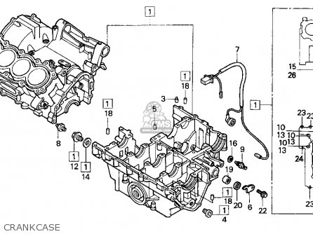Honda Cbr900rr Cbr 1995 s Usa Crankcase
