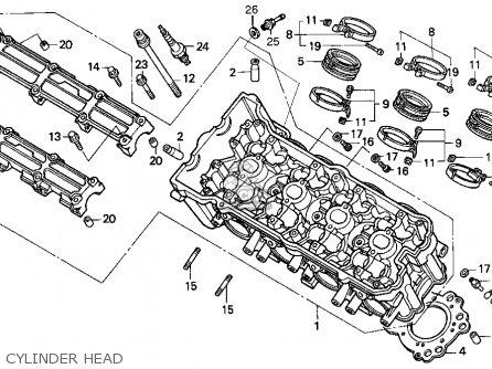 Honda Cbr900rr Cbr 1995 s Usa Cylinder Head