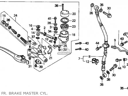 Honda Cbr900rr Cbr 1995 s Usa Fr  Brake Master Cyl