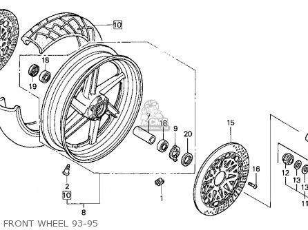 Honda Cbr900rr Cbr 1995 s Usa Front Wheel 93-95