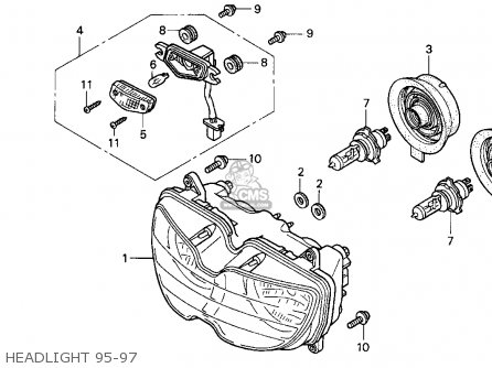 Honda Cbr900rr Cbr 1995 s Usa Headlight 95-97