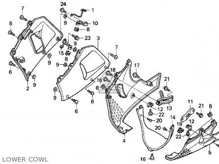 Honda Cbr900rr Cbr 1995 s Usa Lower Cowl