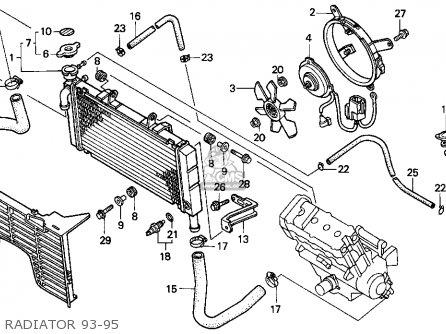 Honda Cbr900rr Cbr 1995 s Usa Radiator 93-95