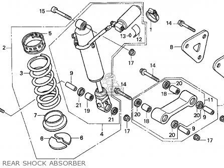 Honda Cbr900rr Cbr 1995 s Usa Rear Shock Absorber