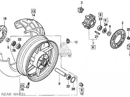 Honda Cbr900rr Cbr 1995 s Usa Rear Wheel