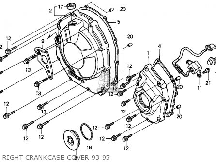 Honda Cbr900rr Cbr 1995 s Usa Right Crankcase Cover 93-95