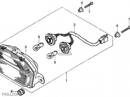 Honda Cbr900rr Cbr 1995 s Usa Taillight
