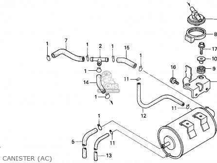 Honda Cbr900rr Cbr 1995 Usa Canister ac