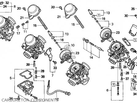 Honda Cbr900rr Cbr 1995 Usa Carburetor Components