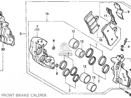 Honda Cbr900rr Cbr 1995 Usa Front Brake Caliper