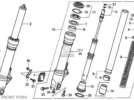 Honda Cbr900rr Cbr 1995 Usa Front Fork
