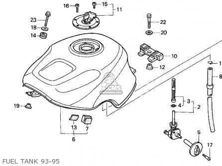 Honda Cbr900rr Cbr 1995 Usa Fuel Tank 93-95