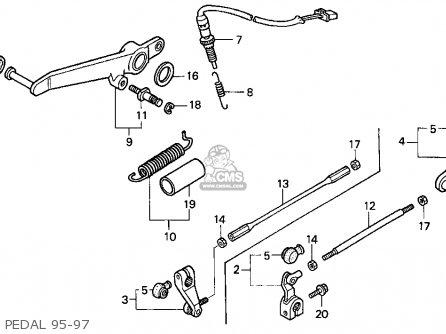 Honda Cbr900rr Cbr 1995 Usa Pedal 95-97