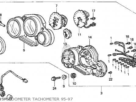 Honda Cbr900rr Cbr 1995 Usa Speedometer Tachometer 95-97