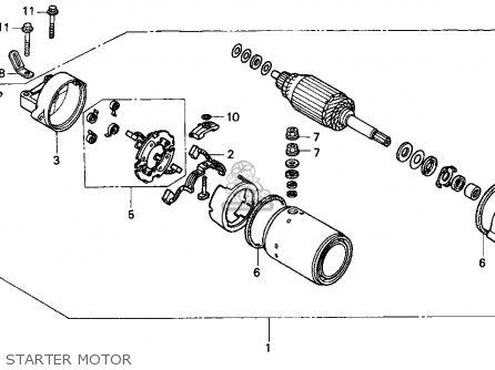 Honda Cbr900rr Cbr 1995 Usa Starter Motor