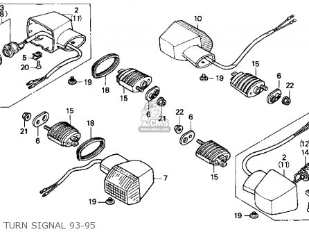 Honda Cbr900rr Cbr 1995 Usa Turn Signal 93-95