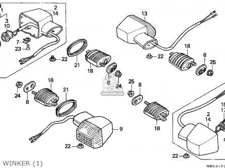 Honda Cbr900rr Fireblade 1994 R Singapore Parts Lists And Schematics