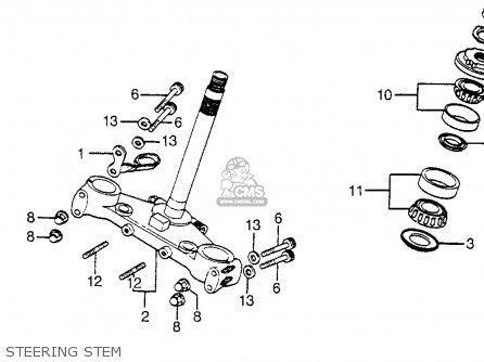 honda cbx motorcycle engine schematics