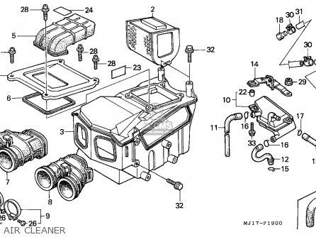 Honda Cbx750p2 1990 l Mexico   Plr Air Cleaner