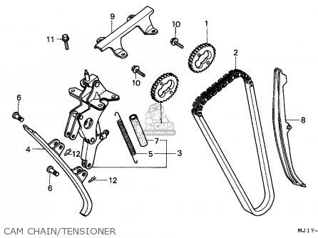Honda Cbx750p2 1990 l Mexico   Plr Cam Chain tensioner