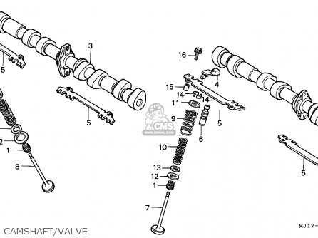 Honda Cbx750p2 1990 l Mexico   Plr Camshaft valve