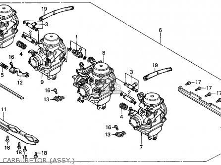 Honda Cbx750p2 1990 l Mexico   Plr Carburetor assy