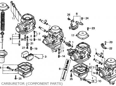 Honda Cbx750p2 1990 l Mexico   Plr Carburetor component Parts