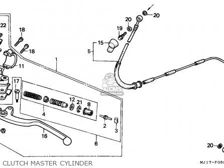 Honda Cbx750p2 1990 l Mexico   Plr Clutch Master Cylinder