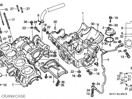 Honda Cbx750p2 1990 l Mexico   Plr Crankcase