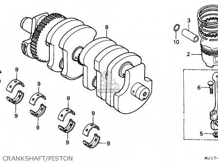 Honda Cbx750p2 1990 l Mexico   Plr Crankshaft piston