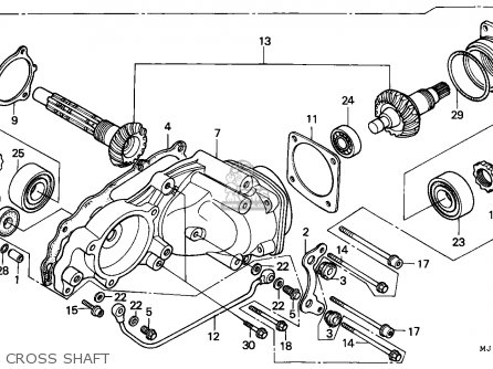 Honda Cbx750p2 1990 l Mexico   Plr Cross Shaft