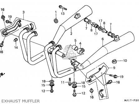 Honda Cbx750p2 1990 l Mexico   Plr Exhaust Muffler