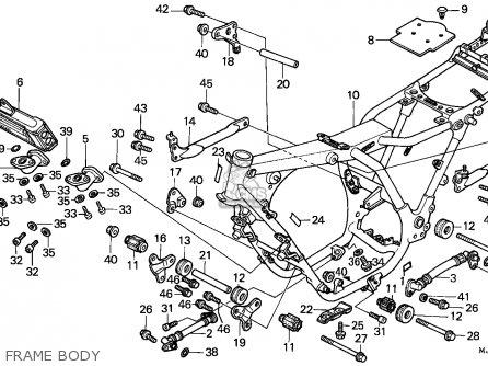 Honda Cbx750p2 1990 l Mexico   Plr Frame Body