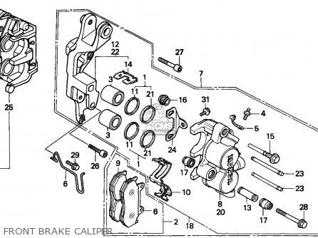 Honda Cbx750p2 1990 l Mexico   Plr Front Brake Caliper