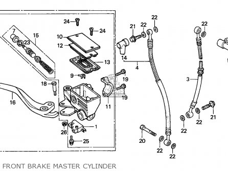 Honda Cbx750p2 1990 l Mexico   Plr Front Brake Master Cylinder