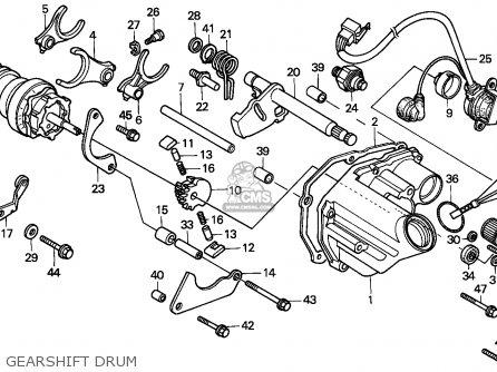 Honda Cbx750p2 1990 l Mexico   Plr Gearshift Drum