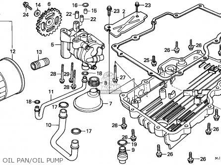 Honda Cbx750p2 1990 l Mexico   Plr Oil Pan oil Pump