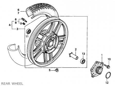 Honda Cbx750p2 1990 l Mexico   Plr Rear Wheel
