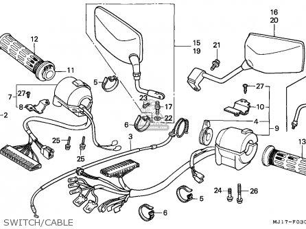 Honda Cbx750p2 1990 l Mexico   Plr Switch cable